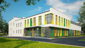 Rozbudowa szkoły w Radostkowie - TRANSWOJ-BIS - Usługi budowlane - Generalny Wykonawca Inwestycji - Wynajem zwyżek Częstochowa - Budowa domów